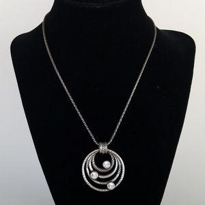 Brighton Silver Tone Rhinestone Necklace